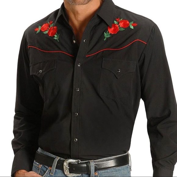 a04693196b Ely Cattleman Other - Ely Cattleman western shirt w embroidered roses-3X